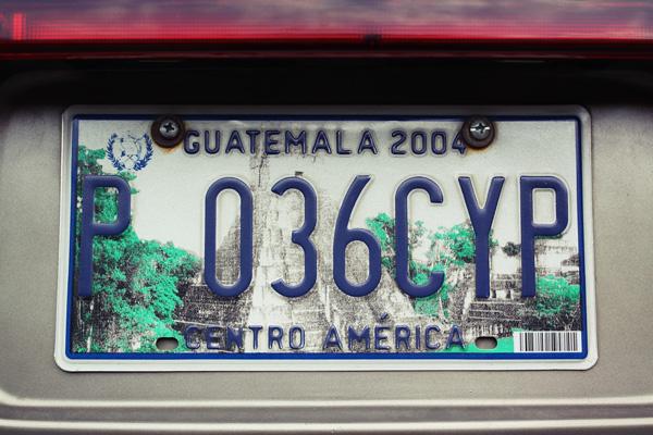 グアテマラのナンバー